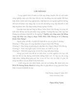 Nghiên cứu tổng quan hệ thống cung cấp điện của công ty nhựa Thiếu Niên Tiền Phong cơ sở 2-Dƣơng Kinh- Hải Phòng