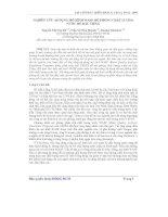 áp dụng mô hình WASP mô phỏng chất lượng nước hồ Dầu Tiếng