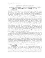 GIÁO DỤC ĐẠO ĐỨC CÁCH MẠNG TINH THẦN ĐÓNG GÓP XÂY DỰNG QUÊ HƯƠNG ĐẤT NƯỚC CHO HỌC SINH THÔNG QUA BÀI HỌC LỊCH SỬ