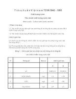 Tiêu chuẩn Việt nam TCVN 5942 - 1995 Chất lượng nước  Tiêu chuẩn chất lượng nước mặt