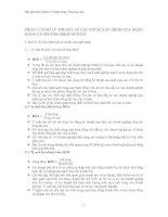 CƠ SỞ LÝ THUYẾT VỀ CÁC CHỈ SỐ TÀI CHÍNH CỦA NGÂN HÀNG VÀ PHƯƠNG PHÁP DUPONT