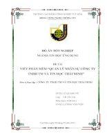 Viết phần mềm Quản lý nhân sự công ty TNHH TM và Tin học Thái Minh