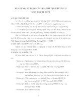 Xây dựng, sử dụng câu hỏi, bài tập chương II SH 11 THPT