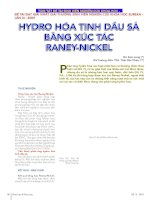 Hydro hóa tinh dầu sả bằng xúc tác raney nickel