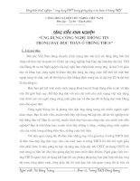 ỨNG DỤNG CÔNG NGHỆ THÔNG TIN TRONG DẠY HỌC TOÁN Ở TRƯỜNG THCS