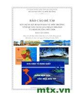 xây dựng kế hoạch bảo vệ môi trường tỉnh Quảng Ngãi giai đoạn 2006 -2010
