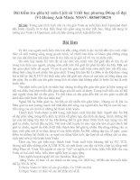 Bài kiểm tra giữa kỳ môn Lịch sử Triết học phương Đông cổ đại