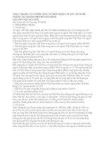 THỰC TRẠNG VÀ VƯỚNG MẮC VỀ HÔN NHÂN CÓ YẾU TỐ NƯỚC NGOÀI TẠI THÀNH PHỐ HỒ CHÍ MINH