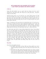 ĐỀ CƯƠNG BÁO CÁO NGHIÊN CỨU SO SÁNH LUẬT PHÁP LAO ĐỘNG CÁC NƯỚC ASEAN