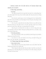 MỘT SỐ VẤN ĐỀ CHUNG VỀ THÂM NHẬP THỊ TRƯỜNG XUẤT KHẨU