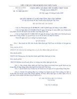 Quyết định Ban hành 03 tiêu chuẩn thẩm định giá Việt Nam