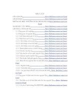 KHẢO SÁT CÁC YẾU TỐ ẢNH HƯỞNG VÀ BIỆN PHÁP KHẮC PHỤC ĐÃ VÀ ĐANG ÁP DỤNG TẠI NHÀ MÁY ĐỂ GIẢM TRỌNG LƯỢNG, CHẤT LƯỢNG SẢN PHẨM70