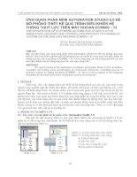 Ứng dụng phần mềm Automation studio 5.0 để mô phỏng thiết kế quá trình điều khiển hệ thống thủy lực trên máy khoan ECM660-III