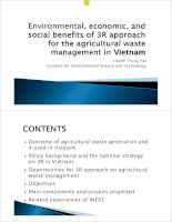 Environmental, economic and social benefits of 3R approach in VN