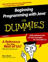 Beginning Programming with Java ™ For Dummies ® , 2nd Edition