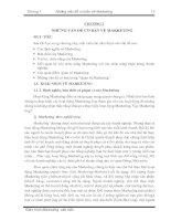 Chương 1 Những vấn đề cơ bản về Marketing