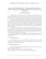 PHÂN TÍCH HỒI QUY -  TƯƠNG QUAN VÀ ỨNG DỤNG TRONG PHÂN TÍCH CÁC NHÂN TỐ ẢNH HƯỞNG ĐẾN TỔNG TỶ SUẤT SINH