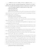 THU THẬP TÀI LIỆU VỀ BIẾN ĐỔI KHÍ HẬU TOÀN CẦU VÀ ẢNH HƯỞNG CỦA BIẾN ĐỔI KHÍ HẬU ĐẾN SUY THOÁI CÁC NGUỒN TÀI NGUYÊN THIÊN NHIÊN VÀ ĐÓI NGHÈO Ở VIỆT NAM