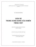 Lịch sự trong hành động cầu khiến tiếng Việt