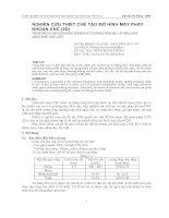 Nghiên cứu chế tạo mô hình máy phay khoan CNC (2D)
