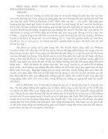 """THỜI GIAN TRẦN THUẬT TRONG """"ÂM THANH VÀ CUỒNG NỘ"""" CỦA WILLIAM FAULKNER"""