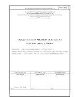 CONSTRUCTION METHOD STATEMENT FOR BORED PILE WORK
