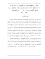 Tìm hiều và đề xuất chiến lược kinh doanh cho chi nhánh viễn thông 5 Hà Nội
