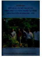 468 Tuyển tập kết quả các đề tài dự án khoa học công nghệ tạo tình Thái Nguyên 10 năm 1986 - 1995