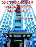 CÔNG TY CHỨNG KHOÁN NGÂN HÀNG SÀI GÒN THƯƠNG TÍN (SACOMBANK - SBS)