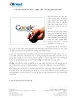 Phương pháp viết mẫu quảng cáo trả tiền hiệu quả