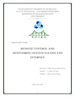 REMOTE CONTROL AND MONITORING SYSTEM VIA SMS AND INTERNET