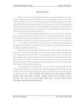QUY TRÌNH VẬN HÀNH SỬA CHỮA BẢO DƯỠNG TRẠM MÁY NÉN KHÍ GA-75FF , KIỂM TOÁN CÁC THÔNG SỐ KỸ THUẬT YÊU CẦU CỦA TRẠM MÁY NÉN KHÍ VÀ GIẢI PHÁP TÁCH DẦU BÔI TRƠN RA KHỎI KHÍ NÉN