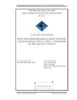 PHÂN TÍCH TÌNH HÌNH HOẠT ĐỘNG TÍN DỤNG  TẠI NGÂN HÀNG TMCP Á CHÂU – CHI NHÁNH  KỲHÒA QUẬN 10 TP.HCM