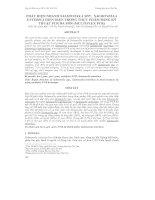 PHÁT HIỆN NHANHSALMONELLA SPP., SALMONELLA  ENTERICA HIỆN DIỆN TRONG THỰC PHẨM BẰNG KỸ THUẬT PCR ĐA MỒI (MULTIPLEX PCR)