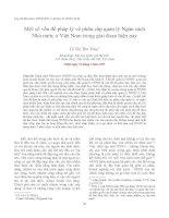 Một số vấn đề pháp lý về phân cấp quản lý Ngân sách Nhà nước ở Việt Nam trong giai đoạn hiện nay