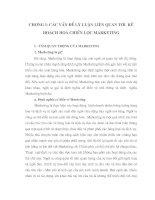 186 Một số giải pháp Marketing cho hoạt động tiêu thụ sản phẩm ở Công ty Sản xuất Bao bì và hàng XK