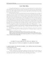 Phân tích hiệu quả sử dụng vốn lưu động tại Công ty Cổ phần Hoá chất VLĐ Đà Nẵng