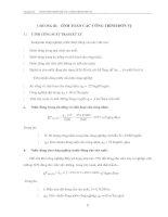 tính toán các công trình đơn vị