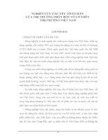 NGHIÊN CỨU CÁC YẾU TỐ CƠ BẢN  CỦA THỊ TRƯỜNG PHÂN BÓN VÔ CƠ TRÊN  THỊ TRƯỜNG VIỆT NAM