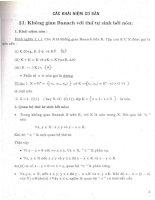 nghiệm dương của một số lớp phương trình toán tử, chương 1
