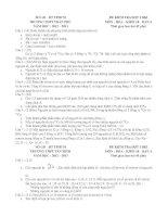 Đề kiểm tra một tiết môn Hóa lớp 10