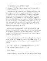 VAI TRÒ CỦA NƯỚC VỚI ĐỜI SỐNG CON NGƯỜI VÀ NỀN KINH TẾ QUỐC DÂN