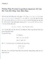 một số phương pháp proximal điểm trong cho bài toán cực điểm lồi và cho bất đẳng thức biến thân, chương 3