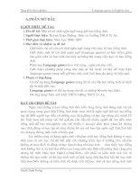 Một số trò chơi ngôn ngữ trong giờ học tiếng Anh