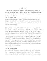 ĐÁNH GIÁ MỨC ĐỘ HÀI LÒNG CỦA SINH VIÊN HỆ TÍN CHỈ  ĐỐI VỚI CÁC DỊCH VỤ CÔNG NGHỆ THÔNG TIN TRƯỜNG ĐẠI HỌC KINH TẾ HUẾ