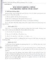 chỉnh hóa một số phương trình tích chặp, chương 2