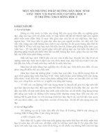 MỘT SỐ PHƯƠNG PHÁP HƯỚNG DẪN HỌC SINH GIẢI  MỘT VÀI DẠNG BÀI TẬP HÓA HỌC 8 Ở TRƯỜNG THCS SÔNG ĐỐC 2