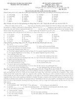 Dề kiểm tra môn tiếng anh khối 12