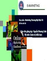 Tổng quan về thương mại điện tử, quản trị thức về Marketing điện tử
