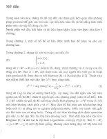 mở đầu nghiên cứu về một phương pháp proximal điểm trong bài toán cực tiểu lồi